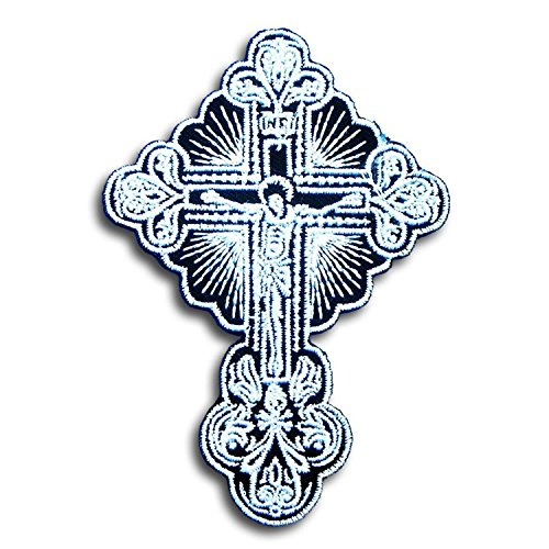 Crucifix Lord Celtic Jesus Cross Skull Christian Tattoo Religious Gaelic Irish Harley Lady Rider Biker Punk Heavy Metal Hard Rock Tatto Embroidered #WITH FREE GIFT By Ast vs (Religious Tattos)
