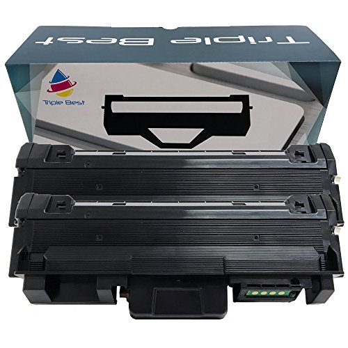Triple Best Set of 2 MLT-D118L Compatible High Yield Black Laser Toner Cartridge for Samsung Xpress M3015DW M3065FW (4,000 Page Yield)