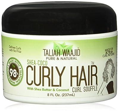 Taliah Waajid Shea-Coco Curly Hair Curl Souffle Jar, 8 Ounce