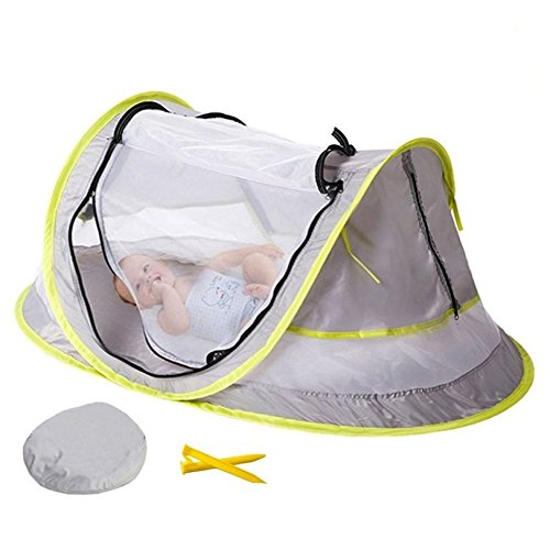 Kidsidol Portable Baby Crib with UV 50+ Protection Baby Travel Bed Mosquito Net Beach Tent for Baby Infant Toddlers Kids Indoor Outdoor Using