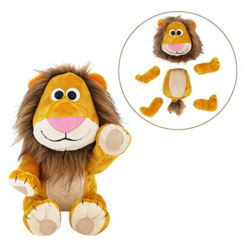 (Animoodles Magnetic Brady Lion Stuffed Animal Plush, 7.5