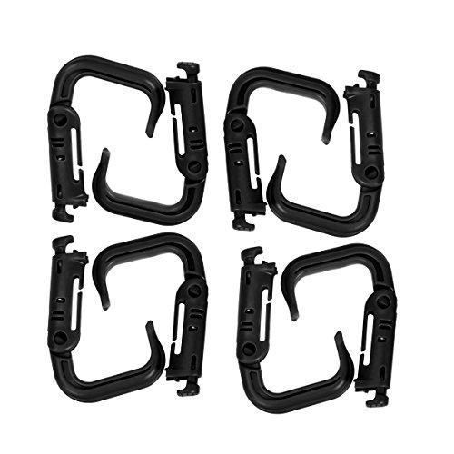 Shootmy 8 Pcs Multipurpose D Ring Locking Carabiner for Molle Webbing