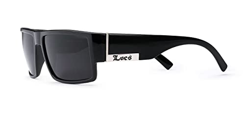 c2dcd0da48 Amazon.com  Locs Mens Flat Top Gangster Sunglasses Black Silver Frame  91026  Shoes