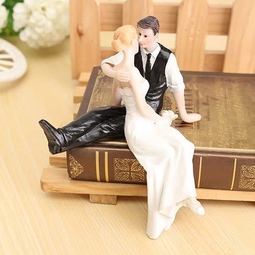 skoqjFQSen Fashion Cake Topper Romantic Resin Wedding Gift Bride Groom Couple Hug Decoration