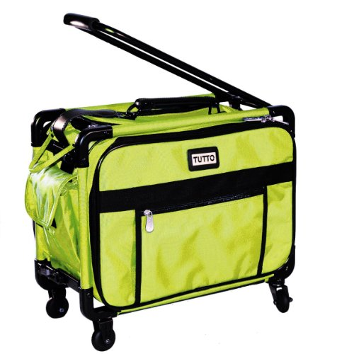 Tutto Small Machine On Wheels 17'' Lime Small Carry-On Size by Tutto