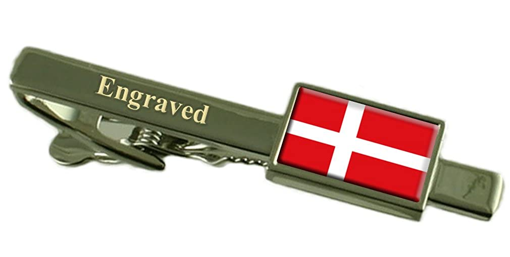 Select Gifts Denmark Flag Engraved Personalised Tie Clip