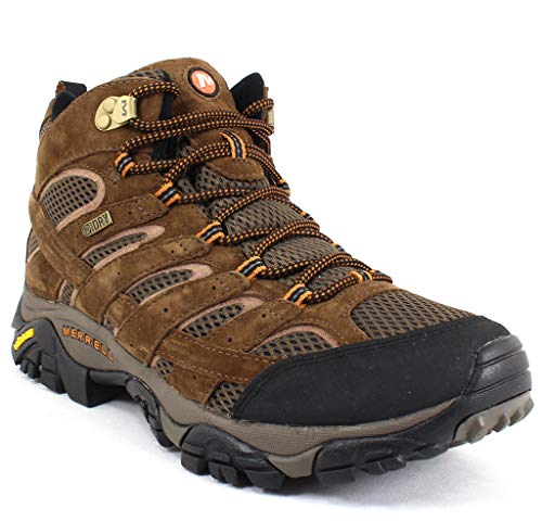 Merrell Men's Moab 2 Mid Waterproof Hiking Boot, Earth, 13 2E US from Merrell