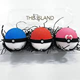 3 XL Pokeball Surprise Bath Bomb Gift Set - XL 5.5 oz...