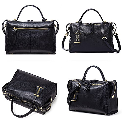 On Clearance, NAWO Women's Leather Designer Handbags Shoulder Top-handle Bags Clutch Purse for Ladies