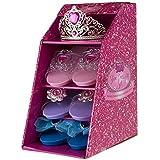 Girls Pink Pretty Princess Shoes Diamante Dress Up Fancy Gift Set (Set of 3 Shoes & Pink Tiara) by pretty princess