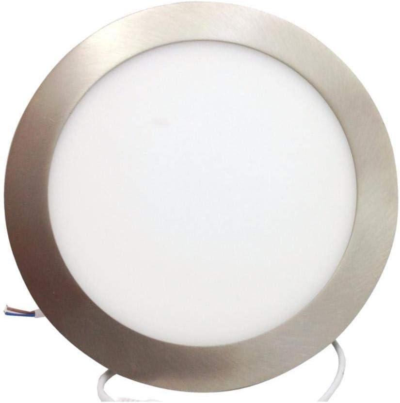 3500K Downlight LED Encastrable Extra Plat Rond 18W ALU Blanc Chaud 2300K
