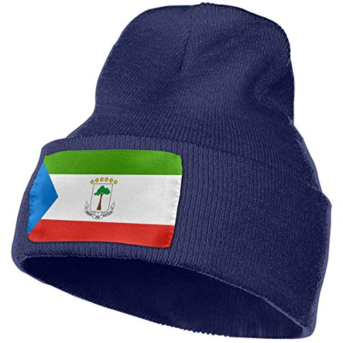Knit Skull Caps Rich Cotton Flag of Equatorial Guinea Beanie Caps Warm Soft Hats ()