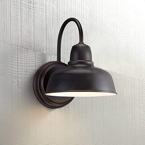 - Rustic Outdoor Wall Light Fixture Bronze 11 1/4