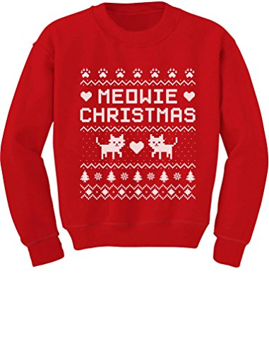 Tstars Meowie Christmas Ugly Sweater Cute Kittens Xmas Toddler/Kids Sweatshirts 2T Red (Meowie Christmas Cat)