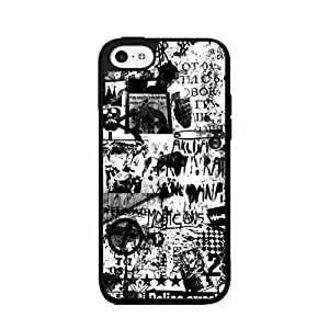 Cute painting Rebellion 2-Piece Dual Layer Phone Case Back Cover iPhone 5 5s BY EPPOR