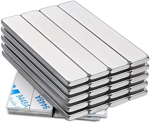 60 x 10 x 3 mm Pack of 16 F60103 DIYMAG Strong Neodymium Bar Magnets with Double-Sided Adhesive Rare Earth Neodymium Magnet