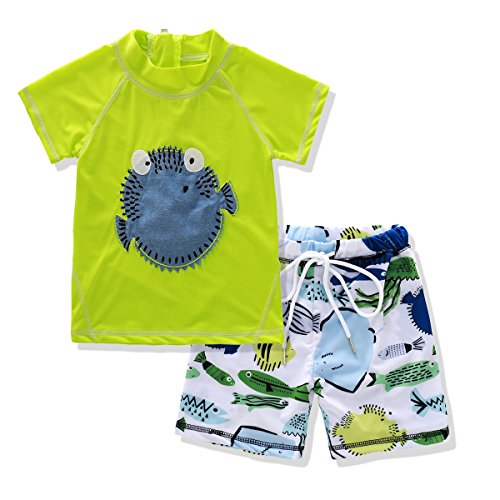Little Boy 2 Piece Swimwear Set Tshirt and Shorts Suit for 3 to 7 Age Kids