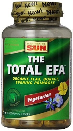 Health From The Sun 100% Vegetarian The Total EFA Softgels, 90-Count