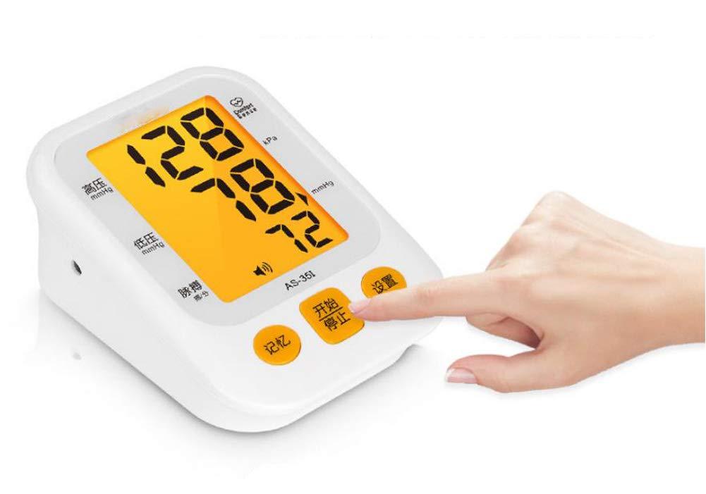 TensióMetros Monitor De PresióN Arterial ElectróNico Para Personas Mayores Tipo De Brazo En El Hogar Luz De Fondo RetroiluminacióN Medidor De PresióN ...