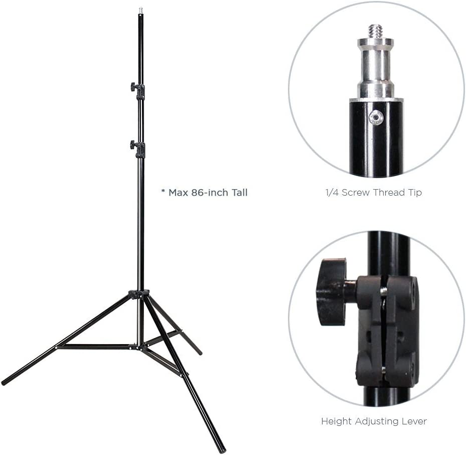 AGG1293 LimoStudio 1400W Output Photo Studio 40 Umbrella Double Light Lighting Kit With Exclusive Premium Carry Bag
