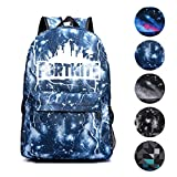 Fortnite Backpack School Bags for Boys Girls Laptop Bagpack Satchel (Lightning Blue)
