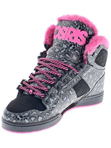 b1b1532c60 Osiris Women's NYC 83 SHR Skate Shoe,Black/Pink/Cheetah,9.5 M US ...