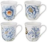 Lenox Butterfly Meadow Assorted Blue Mug, Set of 4