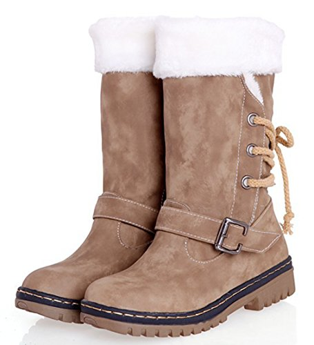 and Warm Boots Brown Size Eozy ENLARGING Winter Anti 5UK Skid Boots Ladies Size37 Snow AqUAwY0