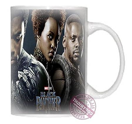 Negro Pantera Marvel fondo oscuro ML cerámica café té taza, un ...