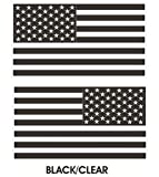 1 Pair Eminent Fashionable Black-Clear Subdued Flag Stickers Sign USA Tactical Car Decal Vinyl Size 4