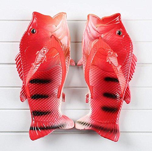 Forme SHANGXIAN Drôle Poisson Pink Décontractée Conception Chaussures Mode Été Unique De Open Pantoufle Femmes 42 Red Tongs Plage Sandales 43 Toe De Créatif r0qrv