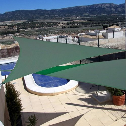 New 16.5'x 16.5' Triangle Sun Sail Shade Cool Color: Green 16.5x16.5