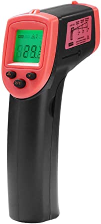 Kkmoon Hw600 Digitales Infrarot Thermometer 50 600 C 58 1122 F Pyrometer Berührungslos Temperaturmessgerät Temperaturmesser Mit Lcd Beleuchtung Rot Auto