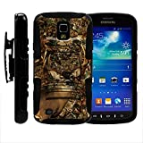 Samsung Galaxy S4 Active Phone Cover, Belt Clip, 2 in 1 Hybrid Armor w/ Kickstand and Dazzling Designs for Samsung Galaxy S4 IV Active I9295, SGH-I537 by MINITURTLE - Deer Hunting Leaves