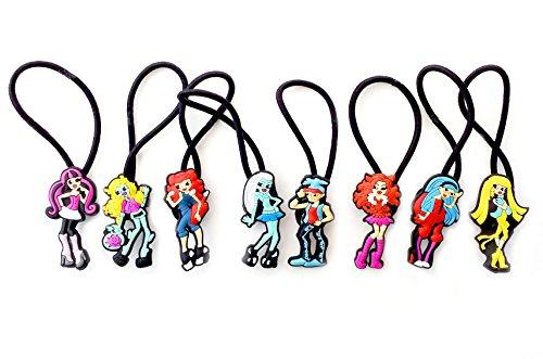 [AVIRGO 8 pcs Elastic Hair Bands Hairband Hairbands Ponytail Holders Set # 77-5] (Monster High Kitty)