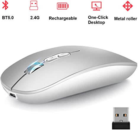 Wireless Mouse Portable Mouse 3 Adjustable DPI PC and Mac for Laptop
