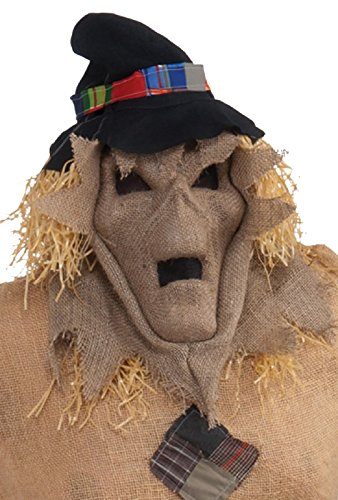 Forum Novelties Burlap Evil Skull Scarecrow Hooded Mask Scare Crow Halloween Costume Accessory -