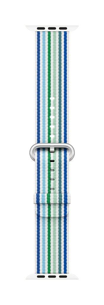Apple Watch 42mm Blue Stripe Woven Nylon