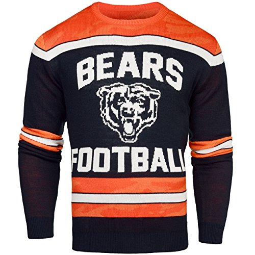 FOCO Chicago Bears Ugly Glow In The Dark Sweater - Mens - Mens Large by FOCO