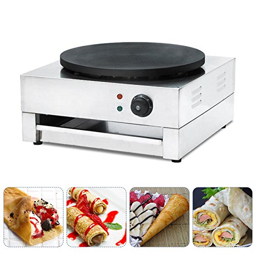 Crepe Maker Machine, vinmax Commercial Electric Single Plate Crepe Machine Snack Machine Electric Hot Plate Pancake Griddle(110v) by vinmax (Image #5)