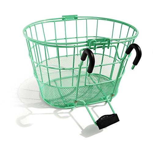 Colorbasket Mesh Bottom Lift-Off Bike Basket, Green (Rattan Mesh)