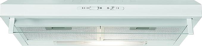 Bomann DU 623.2 Campana extractora 60cm, recirculación de aire o por conducto, 3 niveles potencia, filtros extraibles de aluminio lavables, blanca: Amazon.es: Grandes electrodomésticos