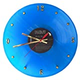 "ELVIS PRESLEY Blue Vinyl Record Clock (Moody Blue). 12"" wall clock made with the original record and ready to hang."