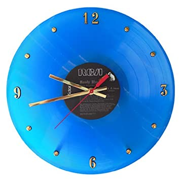 Elvis Presley Blue Vinyl Record Clock Moody Blue . 12 Wall Clock Made with The Original Record and Ready to Hang.