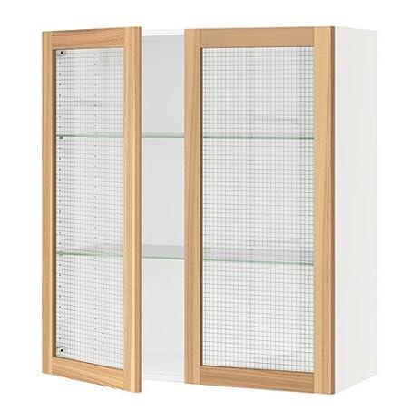 Amazon Ikea Wall Cabinet With 2 Glass Doors White Torhamn Ash