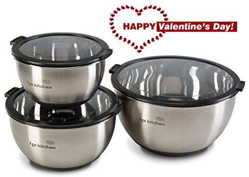 FGS Kitchen Stainless Steel Mixing Bowls