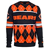 Klew Chicago Bears Exclusive Argyle Sweater Extra Large