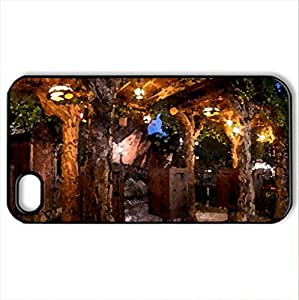 beautiful place - Case Cover for iPhone 4 and 4s (Watercolor style, Black)