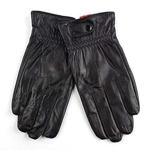 Sheepskin Leather Wrinkle Pattern Gloves for Men