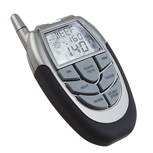 AGPtek® Wireless Digital BBQ Thermometer Tester with Probe Thermometer and Remote